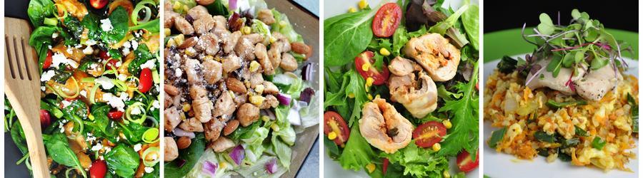 Recettes de salades santé au poulet